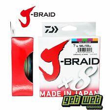 Daiwa J-Braid 500m Spool Multi Colour 8ply