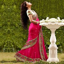 Brand New Dark Pink Designer Elegant Party wear Sari / Saree