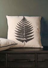 Natural Leaf Print Design Pillow Sofa Cushion White Textiles Polyester