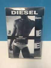 Authentic Diesel Umbr-AndreThreePack Slip Briefs 3 Pack Small S Navy Black Gray