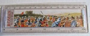 RULER PLASTIC 15cm THE ROMAN HISTORY PICTURE ON FRONT AND TIMELINE ON REVERSE