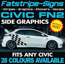 Honda Civic FN2 Graphics Decals Autocollants Rayures Type R Vtec 1.6 2.0 JAP Mugen
