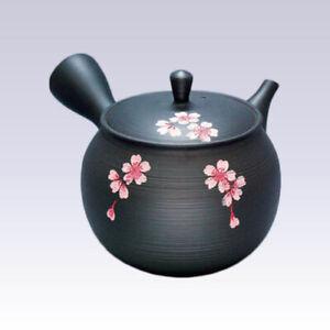 Tokoname Kyusu teapot - GYOKKO - Ebony SAKURA - 320cc/ml - Ceramesh
