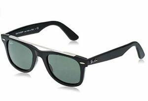 Ray-Ban Wayfarer Double Bridge Sunglasses RB4540 601/3150 Black W/ G-15 Green