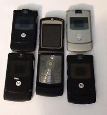 Lot of 5 Motorola V3 Cingular All Cell Phones Power Up