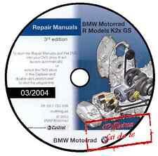 MANUALE OFFICINA BMW F650 F 650 CS GS DAKAR WORKSHOP MANUAL 03/2004 REPROM DVD