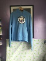 Ladies Official Manchester City Hoodie - size 18 - sky blue with large crest