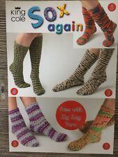"King Cole Knitting Pattern: Mens & Ladies ""Sox Again"" Socks, 4ply"