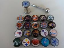 Amerika TEAM NFL Football PLUG FAKE ZUNGE OHR Cheater Tunnel tongue ear Ø 1,6mm