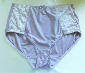 New Bali Satin and Lace Light Control Panty Brief Lilac Nylon Spandex 3XL/10