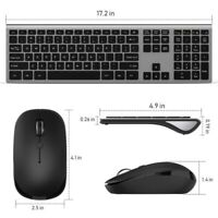 Wireless Keyboard And Mouse Combo Set 2.4G For Office PC Laptop Home Computer