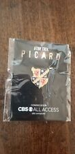 2019 Sdcc Comic Con Exclusive Cbs Star Trek Picard Family Crest Pin On Card