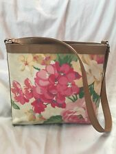 FOSSIL Vintage 1954 Floral Shoulder Bag Purse 75082