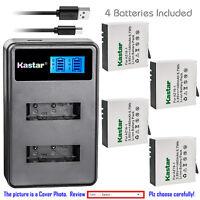 Kastar Battery LCD Dual Charger for Xiaomi YI AZ16-1 AZ16-2 & Xiaomi Yi 4K 4K+