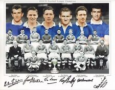 CHELSEA-1954/55-SIGNED 16x12 PHOTO by 6-ROY BENTLEY-JIM LEWIS-DEREK SAUNDERS ETC