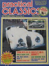Practical Classics magazine 09/1983 featuring Bentley, Jaguar, Ford, Standard
