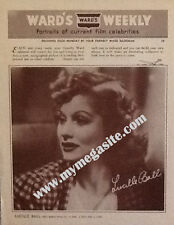 LUCILLE BALL PORTRAITS FROM WARD'S WEEKLY - JANUARY 1941