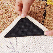 4PCS Rug Pad Carpet Mat Grippers Non Slip Washable Used On Different Tiles Etc