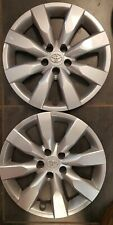 """TWO  2014 15 2016 TOYOTA COROLLA 16"""" WHEEL COVERS OEM HUBCAPS FACTORY 61172"""