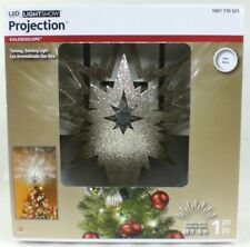 LightShow Lighted LEDs Projection Colorful Indoor Tree Topper Kaleidoscope Set