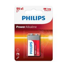 Philips 9V POWER Alkaline Battery - Long Lasting , 6LR61 PP3 LR22 MN1604 HR9V