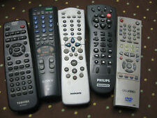 (Lot of 5) Toshiba, go.video, Sony, Phillips, Magnavox Remote Controls