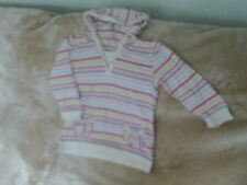 Girls 3-4 Years - Multi Coloured Striped Hooded Top - Next