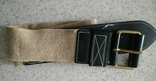Authentic Mexx elastic tan  black belt made in Holland