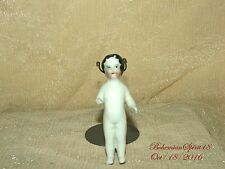 ANTIQUE 1800's GERMAN CHINA FROZEN CHARLOTTE MINIATURE AS IS 3'' DOLL