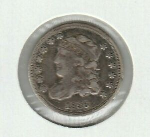 1836 3/Inverted 3 LM-3 FS-301 Capped Bust Fine F US Half Dime H10C