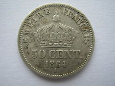 France 1864-A silver 50 Centimes NVF