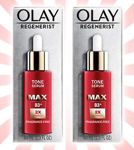 2 Olay Regenerist Max Tone Serum w/ Vitamin C Fragrance-Free 1.3 OZ