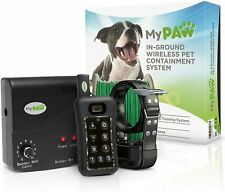 New listing MyPaw Premium Series In-Ground Wireless Radio Dog FenceCollar Containment System