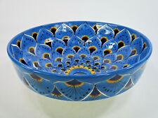 "15"" ROUND TALAVERA SINK (Semi-Recessed) drop in handmade ceramic folk art"