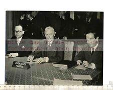 Stampa ORIGINALE FOTO: processo a Bonn: Adenauer Hallstein Blankenhorn Maltzan