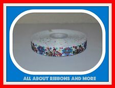 "7/8"" PAW PATROL ON WHITE GROSGRAIN RIBBON- 1 YARD"