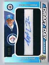 2016-17 SP GAME USED DRAFT DAY MARKS PATRIK LAINE ROOKIE AUTO LETTER ''I''