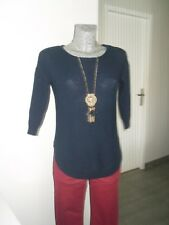 pull de marque JENNYFER taille S 36 38 bleu marine mode femme woman sweater