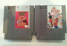 Jordan Vs Bird  One on One & Hoops Nintendo NES Game Cartridge Lot