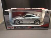 Maisto Premiere DC 2009 Nissan GT-R Silver Die-Cast 1:24 Scale 2019 New Release
