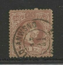 stamps Austria Austro- Hungarian monarchy 50 Kr. used with hinge 1867-71