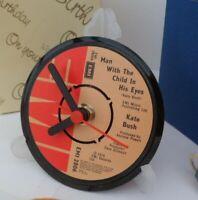 *new* KATE BUSH VINYL RECORD SINGLE CLOCK - actual RECORD CENTRE DESK TABLE