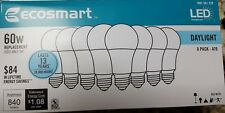 New Lot of 32 EcoSmart LED Bulbs uses 9w = 60w light E26 DayLight White 5000K