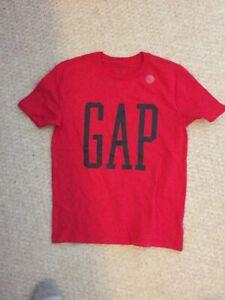 NWT Gap Kids Boys T-shirt Red GAP Graphic Short Sleeve Crew Neck Cotton- Size L