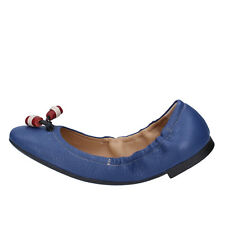 Damen schuhe BALLY 34,5 EU ballerinas blau leder BY34-B