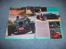 Bugatti Type 35 Gran Prix Vintage Kit Car Info Article --- From 1984----