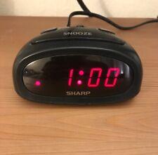 14#D    Intertek 3144480 Black LED Alarm Clock Working Condition Model SPC095