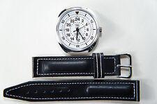 Russian mechanical watch Raketa Pilot, 24 hour, white dial, 39 mm.