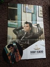"Donny Osmond Soldier Of Love RARE 12"" Picture Disc with Poster"