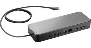HP USB-C Universal Docking Station +AC Adapter // HSA-B005DS Dock USB-C Dual DP